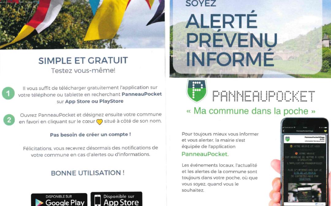 Application «PanneauPocket»